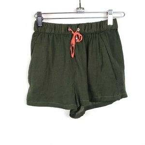 4/$25 Zara | Basic Army Green Elastic Shorts XS